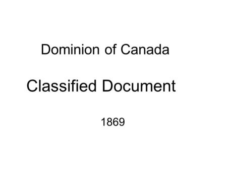 Dominion of Canada Classified Document 1869. To the students in their seventh year of education, of a Mr. Van Berkel, at the common school of VCHS, in.
