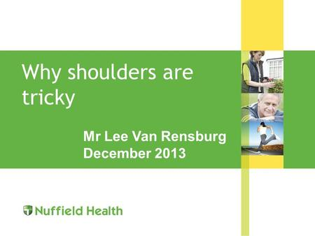 Why shoulders are tricky Mr Lee Van Rensburg December 2013.