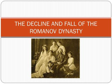 fall of the romanovs essay