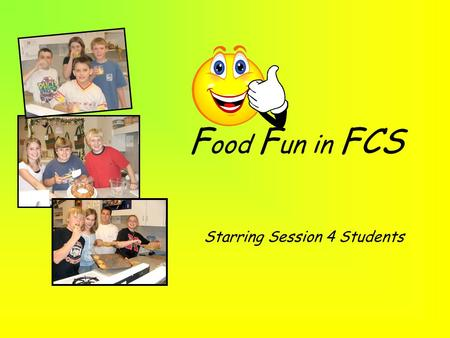 F ood F un in FCS Starring Session 4 Students Orange Julius 6 oz. can frozen concentrated orange juice 1 cup milk 1 cup water ¼ - ½ cup granulated sugar.