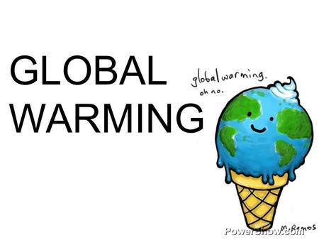 GLOBAL WARMING. The atmosphere has a natural supply of greenhouse gases""