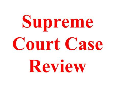Supreme Court Case Review. Marbury v Madison What was an influence this case had on the power of the Federal Government?