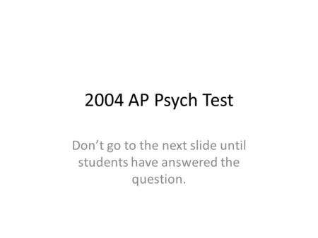 2004 ap psychology exam essay