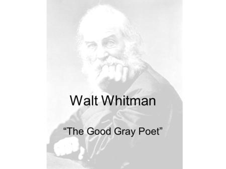 an analysis of the role of walt whitman an american poet