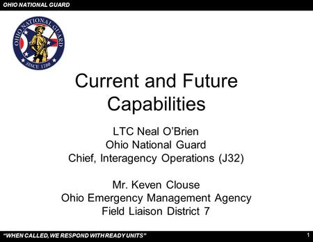 Current and Future Capabilities