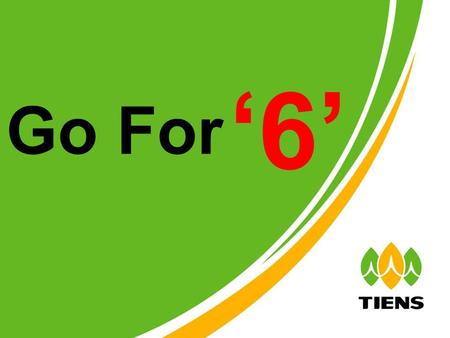 Go For '6'. Get RM 100 /RM 200 CASH VOUCHER Just by encourage 6 direct downline to Maintain Go For '6'