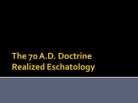  What is the doctrine?  Who are the proponents?  What is the danger?