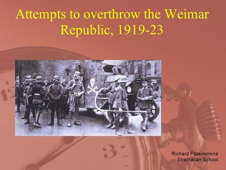 an overview of weimar and the rise of hitler after world war one in germany The rise of the nazi party is discussed in this section of the timeline world war i ended in 1918 with a grisly total of 37 million casualties with eligibility for early parole hitler was released from prison after one year other nazi leaders were given light sentences also.