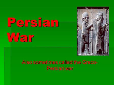 an introduction to the history of the greco persian war Persian wars timeline search results the indecisive battle of artemision between the greek and persian fleets of search through the entire ancient history.
