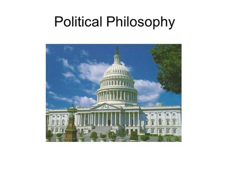 Political Philosophy.