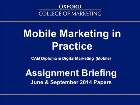 Mobile Marketing in Practice