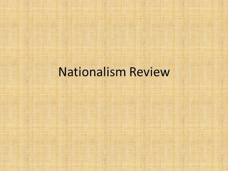 Nationalism Review.