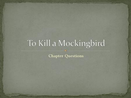 harper lees novel to kill a mockingbird told from scouts point of view