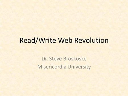 read write web Readwrite (originally readwriteweb or rww) is a web technology blog launched in 2003 rw covers web 20 and web technology in general, and provides industry news.