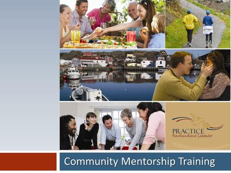Community Mentorship Training. Session Focus: To provide community volunteers with a framework to begin a community mentoring process. Introduction.