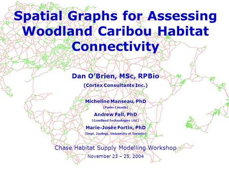 Spatial Graphs for Assessing Woodland Caribou Habitat Connectivity