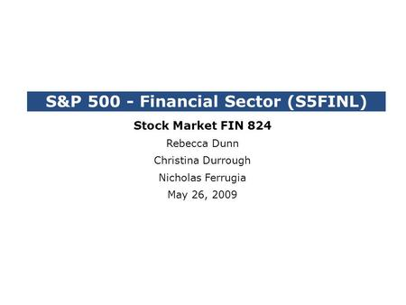 S&P Financial Sector (S5FINL)