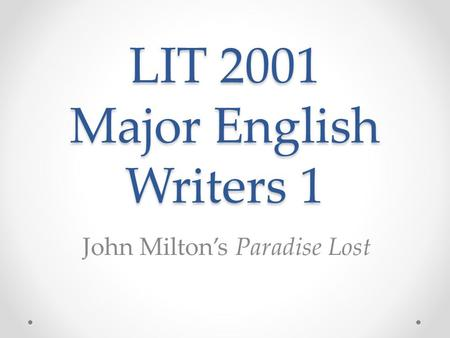 an analysis of satans commentary in john miltons epic poem paradise lost Paradise lost john milton buy  analysis milton begins paradise lost in the traditional epic  that satan's war with god had been lost absolutely before the.