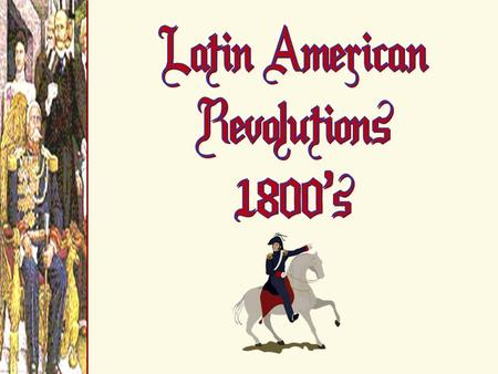 European Empires in Latin America: 1660s Spain Portugal France.