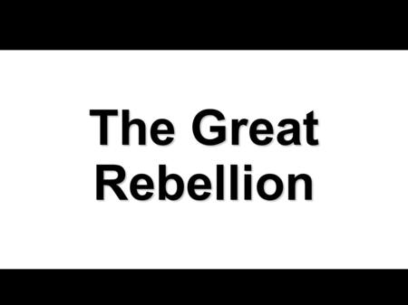The Great Rebellion. August 9, 2009The Great Rebellion2 The Rebellion Begins The story of the rebellion begins with four men. (Num 16:1) The story of.