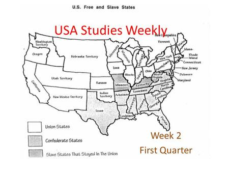 USA Studies Weekly Week 2 First Quarter.