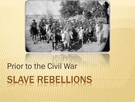 Prior to the Civil War.  Many slave-owners feared slaves would rebel. This caused slave-owners to rarely set slaves free.  Most slaves did not classify.