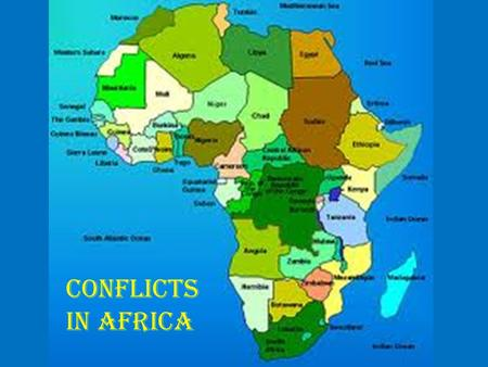 Conflicts in Africa. Democratic Republic of the Congo Formerly called Zaire (1971-1997) 3 rd largest country in Africa (land size) Second Congo.