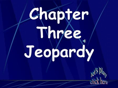Chapter Three Jeopardy Crazy Cats______ Maps and More Key Terms? Colonies for All Religion Squared Things that Rhyme with Orange 20 40 60 80 100 120.