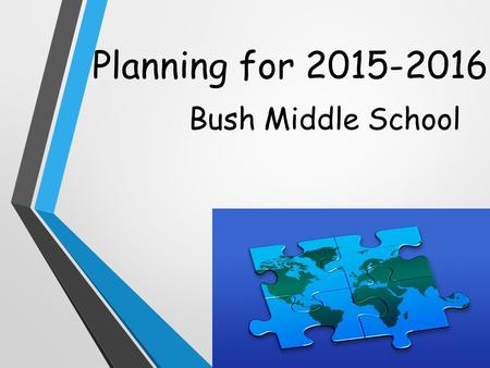 Planning for 2015-2016 Bush Middle School. Bush Counselors Counselors are assigned based on students' last names. A-FMrs. Sandoval