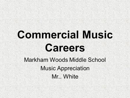 Commercial Music Careers