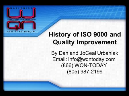 History of ISO 9000 and Quality Improvement
