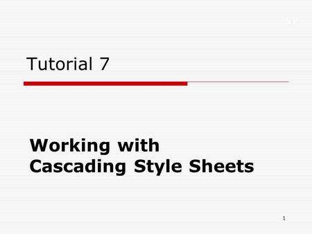 Working with Cascading Style Sheets