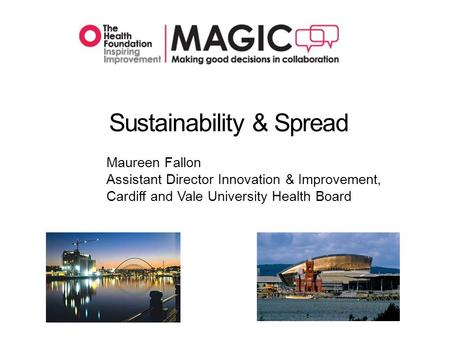 Sustainability & Spread Maureen Fallon Assistant Director Innovation & Improvement, Cardiff and Vale University Health Board.