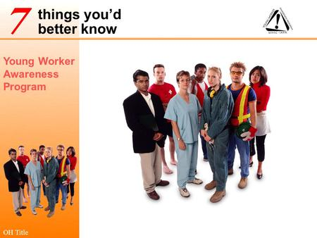 Young Worker Awareness Program things you'd better know OH Title.