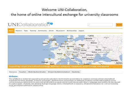Welcome UNI-Collaboration, the home of online intercultural exchange for university classrooms.