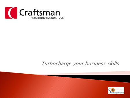 Turbocharge your business skills.  Craftsman is an accounting program designed specifically for the building and construction industry.  It analyses.