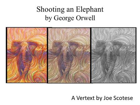shooting an elephant by george orwell pdf