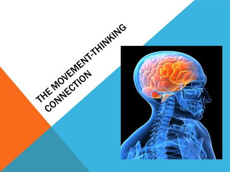 THE MOVEMENT-THINKING CONNECTION. LEARNING OBJECTIVES The Learner Will 1.Contemplate research related to the significance of purposeful movement in individuals.