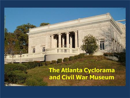 The Atlanta Cyclorama and Civil War Museum. Doesn't this look like Clark Gable?