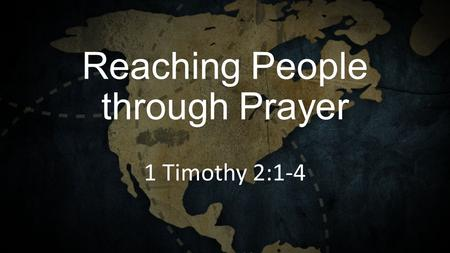 Reaching People through Prayer 1 Timothy 2:1-4. Spectrum of Involvement.
