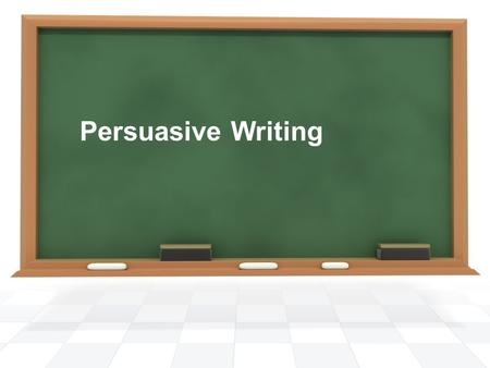 Persuasive Writing. The writer attempts to persuade the reader by trying to convince the reader to accept their point of view. Purpose.
