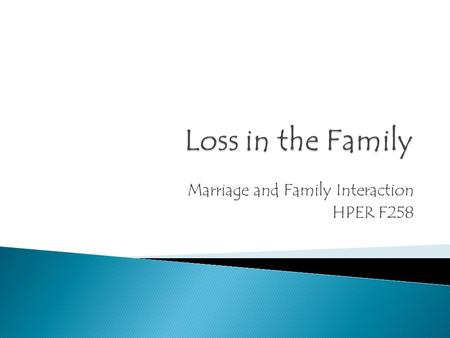 Marriage and Family Interaction HPER F258.  In your small group, discuss the experience of writing the letter. Include the following discussion points: