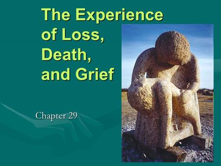 The Experience of Loss, Death, and Grief