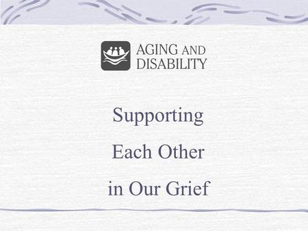 Supporting Each Other in Our Grief. The International Federation of over 120 L'Arche Communities was founded in 1964 by Jean Vanier in France. In order.