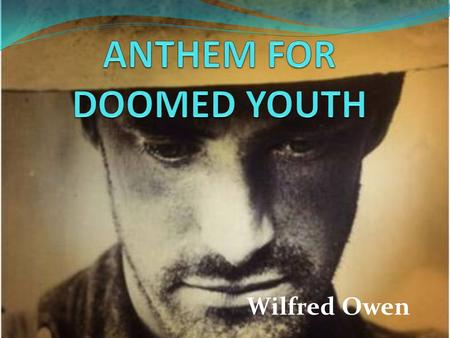 Wilfred owen poems essay