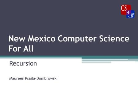 New Mexico Computer Science For All