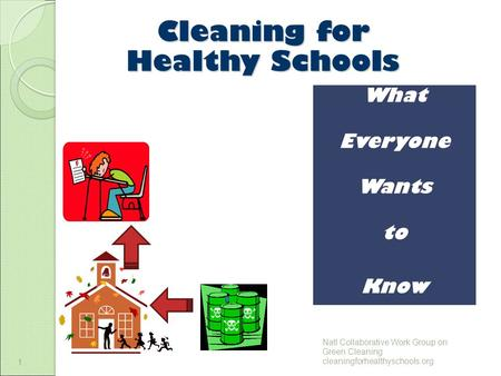 1 Cleaning for Healthy Schools 1 What Everyone Wants to Know Natl Collaborative Work Group on Green Cleaning cleaningforhealthyschools.org.