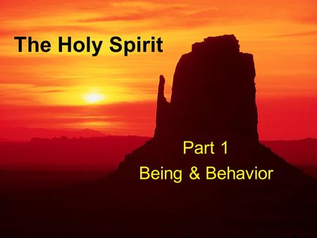 "The Holy Spirit Part 1 Being & Behavior. Who is the Holy Spirit? Jehovah's Witnesses: ""God's Radar Beam"" One of Many Manifestations of God Manifestation."