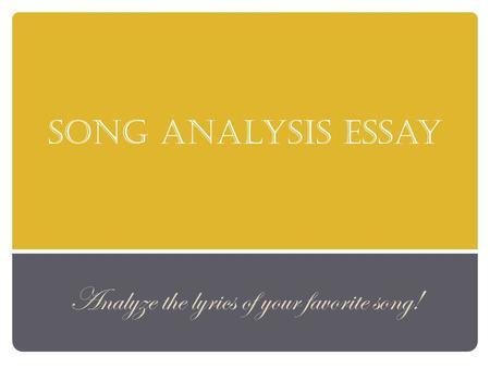 art analyists essay