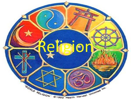 Religion. Religion: The belief in and worship of a superhuman controlling power, esp. a personal God or gods.